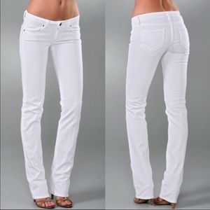 Paige white denim in Melrose cut new condition!